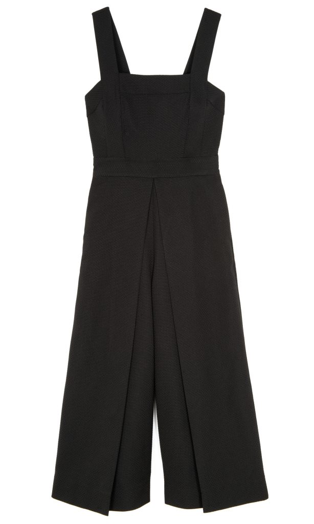 sleeveless wide leg culotte jumpsuit